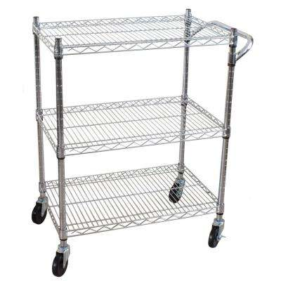 3-Tier Steel Heavy Duty All-Purpose Utility Cart