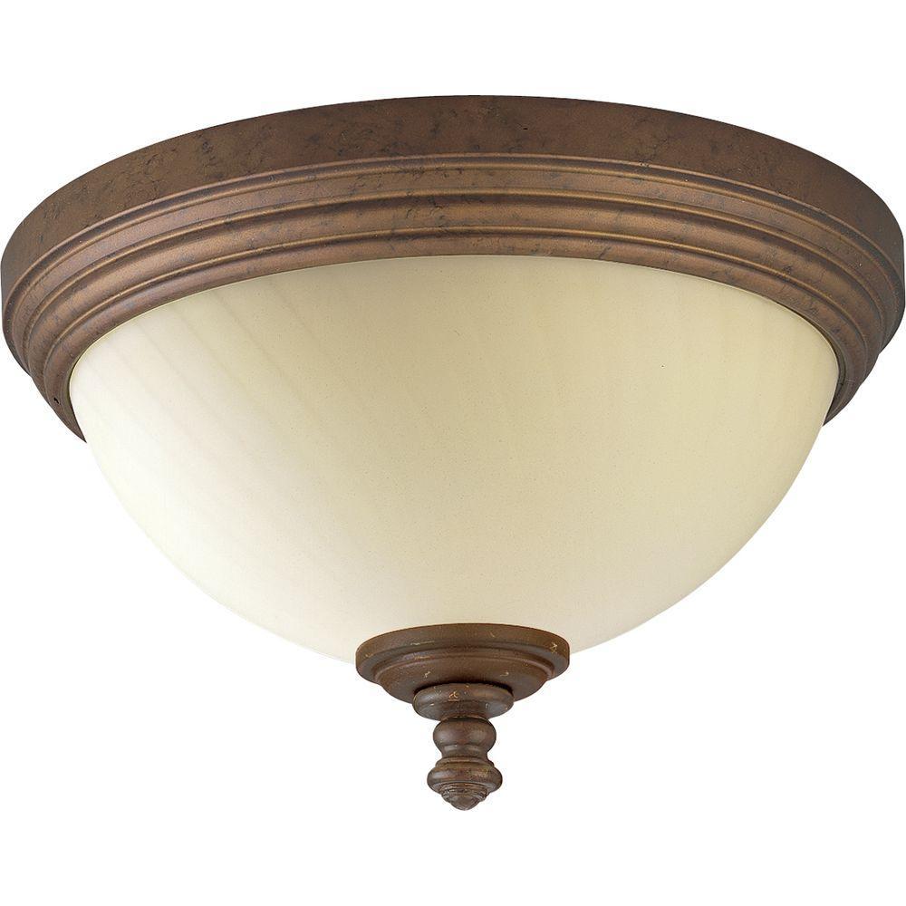 Thomasville Lighting Meeting Street Collection Roasted Java 2-light Flushmount-DISCONTINUED