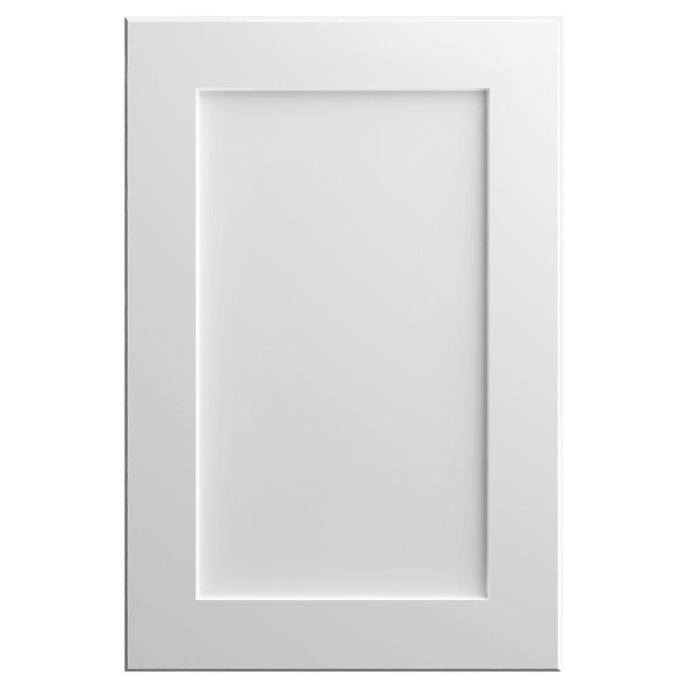 11x15 in. Soleste Cabinet Door Sample in Bright White