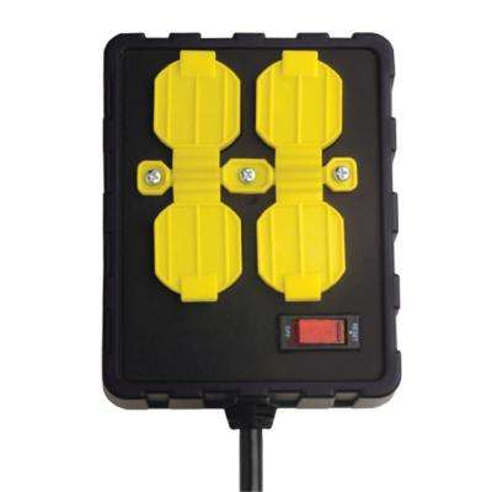 4-Outlet Circuit Breaker Power Box