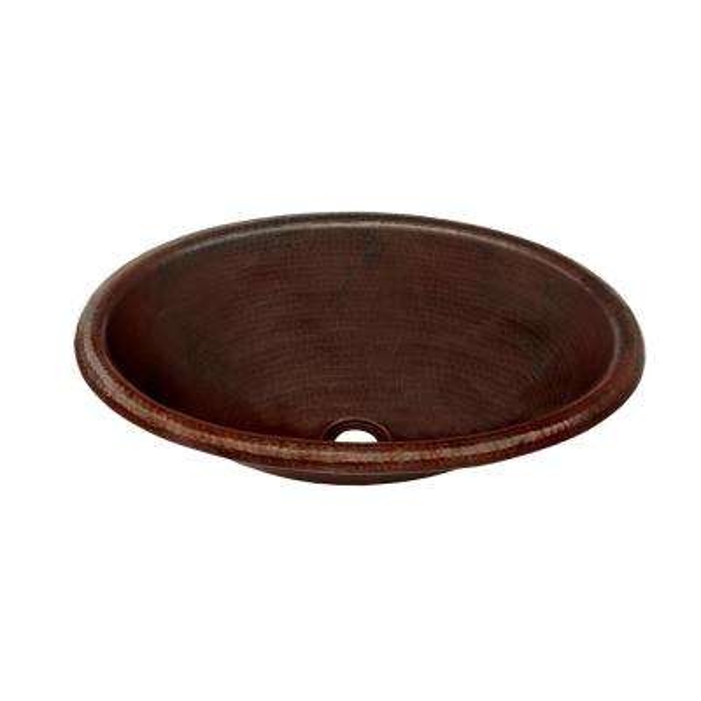 Cordoba Copper Drop-In Bathroom Sink