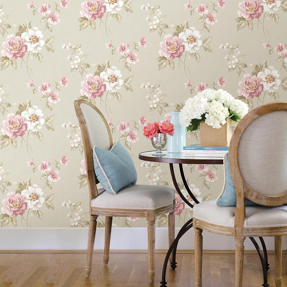 Chesapeake Keighley Pink Floral Wallpaper Sample 3112 002759sam