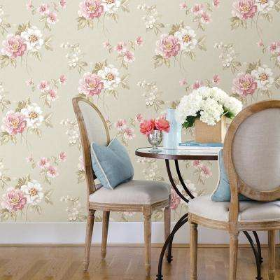 Keighley Pink Floral Wallpaper Sample