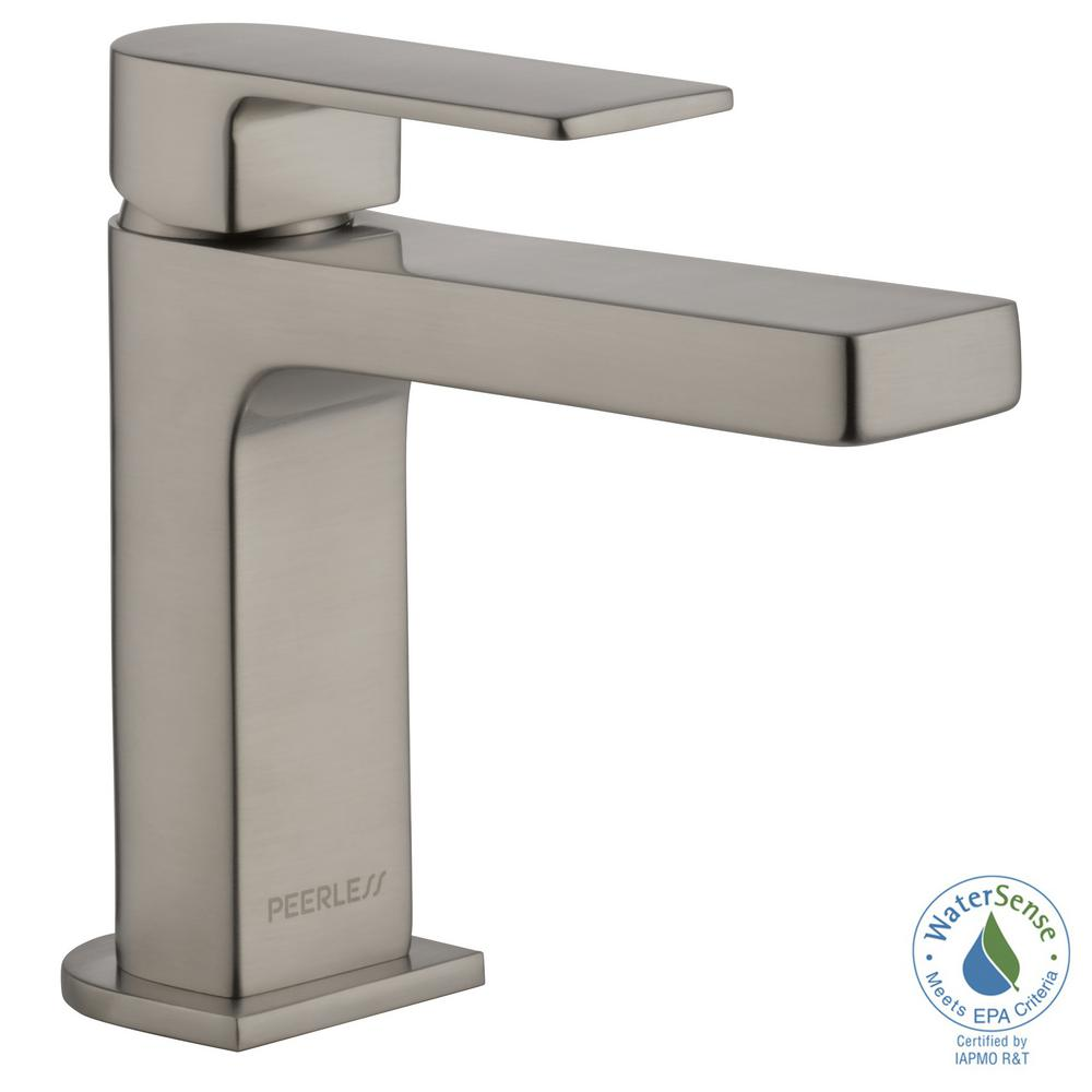 Peerless Xander 4 in. Centerset Single-Handle Bathroom Faucet Less ...