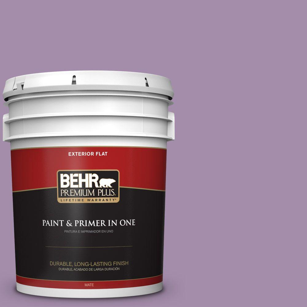 BEHR Premium Plus 5-gal. #M100-4 Aged to Perfection Flat Exterior Paint