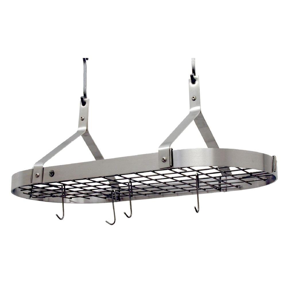 Premier Contemporary Ceiling Pot Rack Stainless Steel