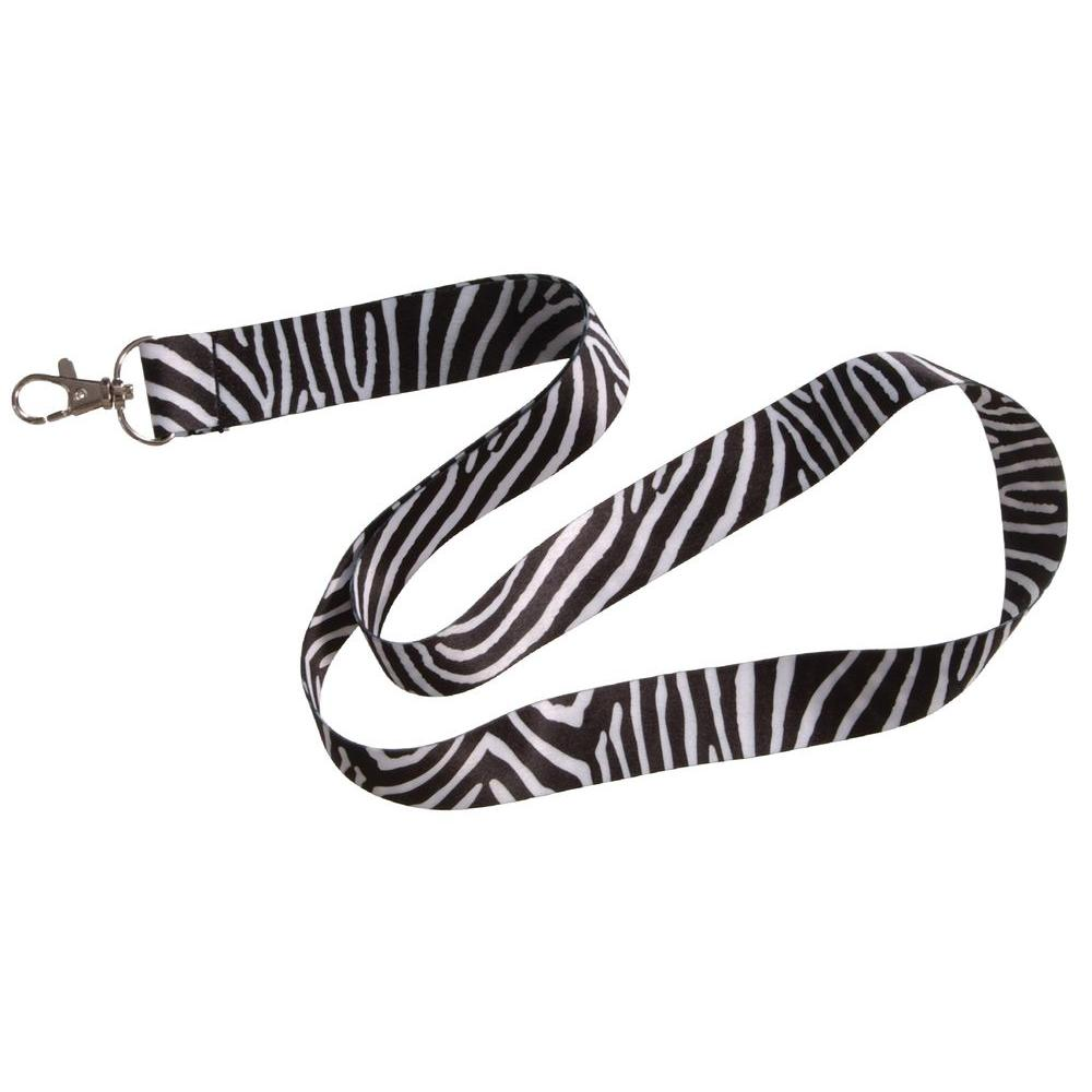 The Hillman Group Zebra Lanyard, Adult Unisex, Black The Hillman Group Zebra Lanyard is a convenient and trendy way to show off or keep an eye on your ID badge, keys, cell phone or even MP3 player. This lanyard features an 8 in. length. This lanyard is made of fabric. Color: Black. Gender: Unisex. Age Group: Adult.