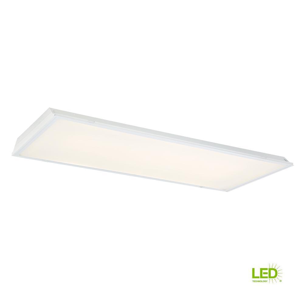 EnviroLite 2 ft. x 4 ft. 128-Watt Equivalent Prismatic Lens Integrated LED Commercial Grid Ceiling Troffer