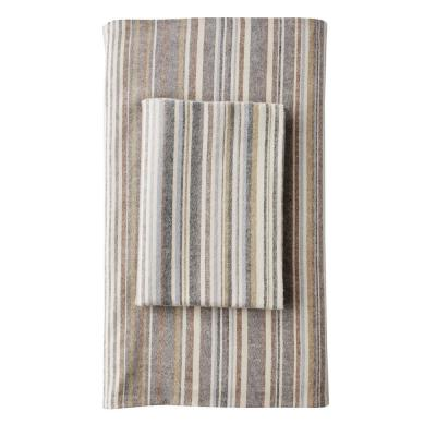 Bromley Stripe Flannel Fitted Sheet