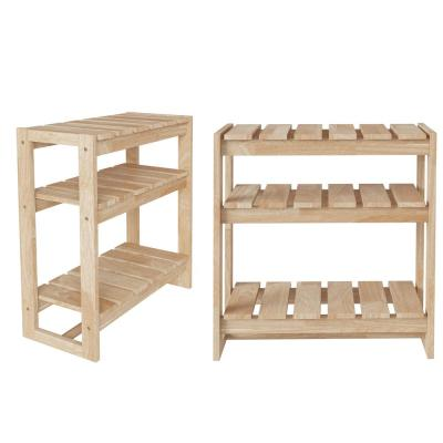 Freemont 51.2 in. Natural Solid Wood 5 -Shelf Convertible Open Shelving Bookcase