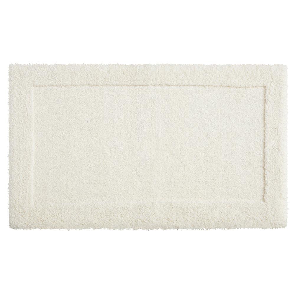 Dynasty 20 in. x 34 in. Micro Denier Polyester Bath Mat in Parchement