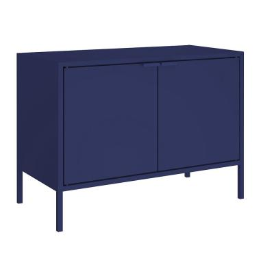 Smart 28 in. Blue Metal TV Stand Fits TVs Up to 25 in. with Cabinets