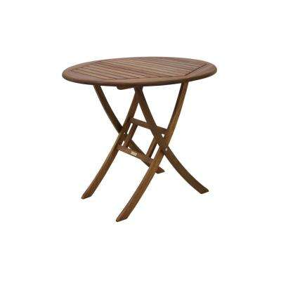 Round 30 in. Eucalyptus Folding Outdoor Bistro Table