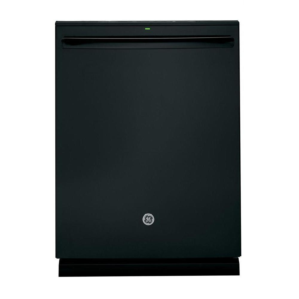 Profile Top Control Dishwasher in Black with Stainless Steel Tub and