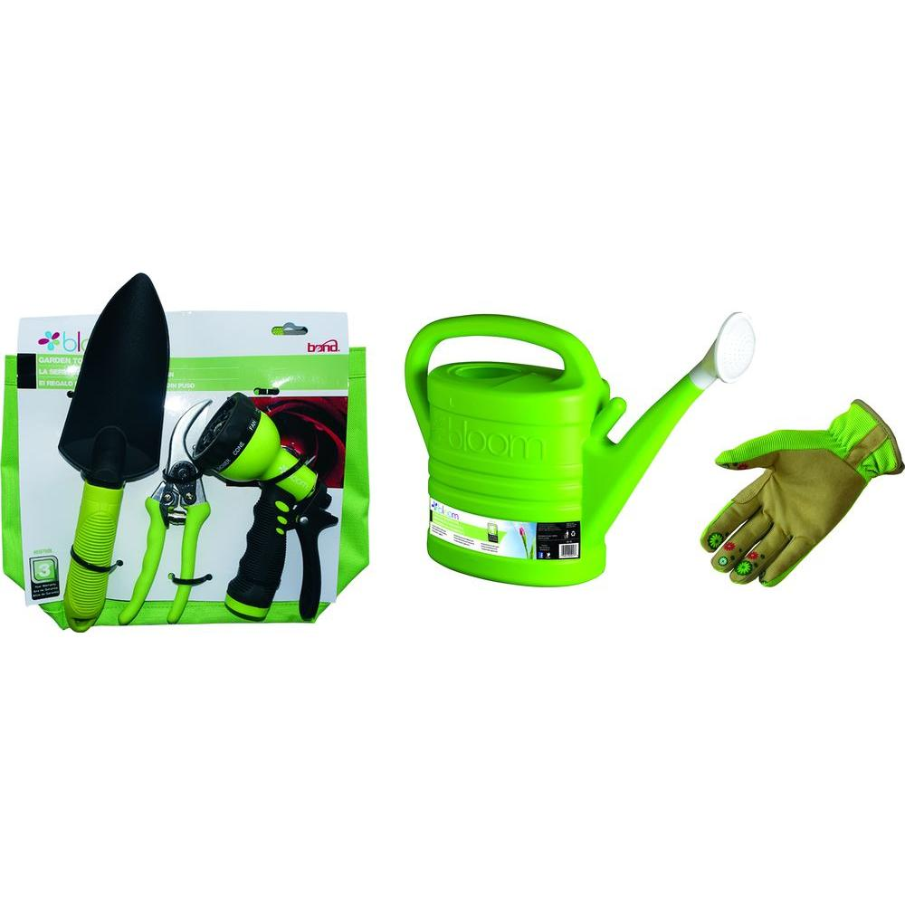 Bond manufacturing bloom green thumb kit in green 6 piece for Garden tools manufacturers