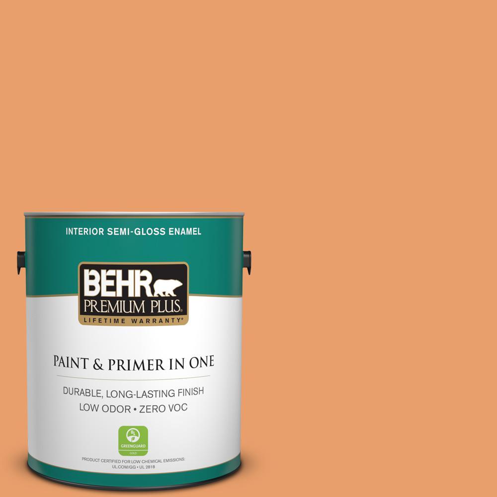 1-gal. #260D-4 Copper River Zero VOC Semi-Gloss Enamel Interior Paint