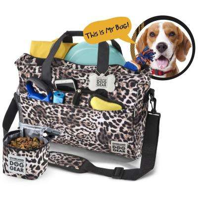 Day Away for All Size Dogs Polyester Accessory Tote in an Animal Print