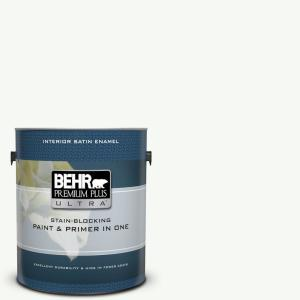 1 gal. #UL260-14 Ultra Pure White Satin Enamel Interior Paint and Primer in One