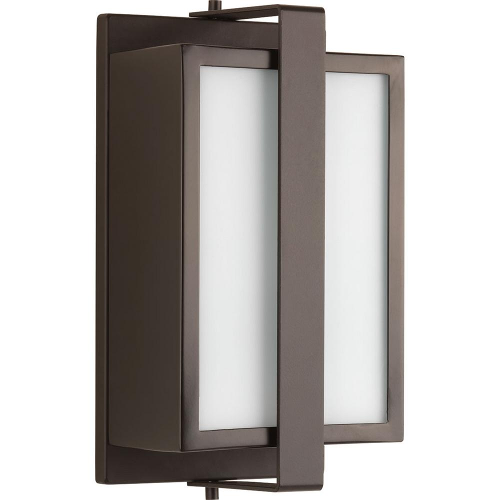 Progress Lighting Diverge Collection 1-Light Architectural Bronze 10.9 in. Outdoor Wall Lantern Sconce