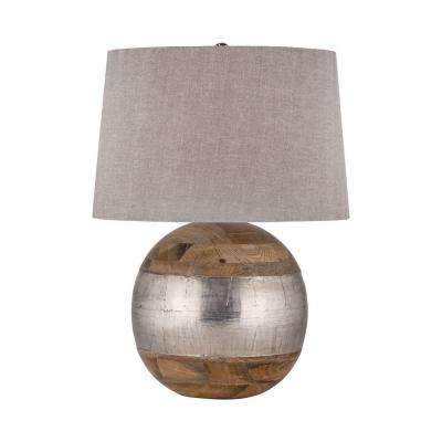 27 in. German Silver Table Lamp