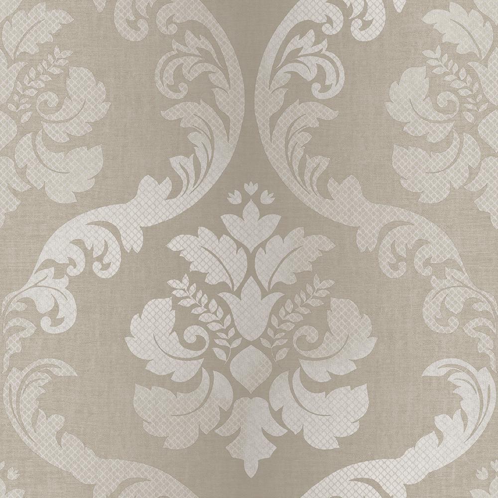 Chesapeake Delilah Wheat Tulip Damask Wallpaper VIR98222