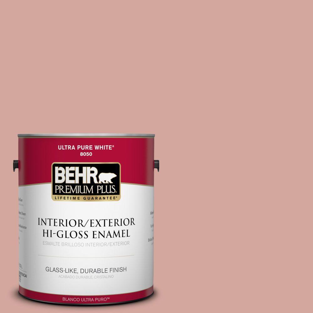 BEHR Premium Plus 1-gal. #200E-3 Cinnamon Cocoa Hi-Gloss Enamel Interior/Exterior Paint