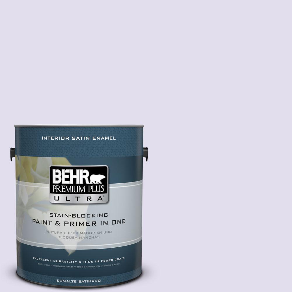 BEHR Premium Plus Ultra 1-gal. #650C-2 Powdery Mist Satin Enamel Interior Paint