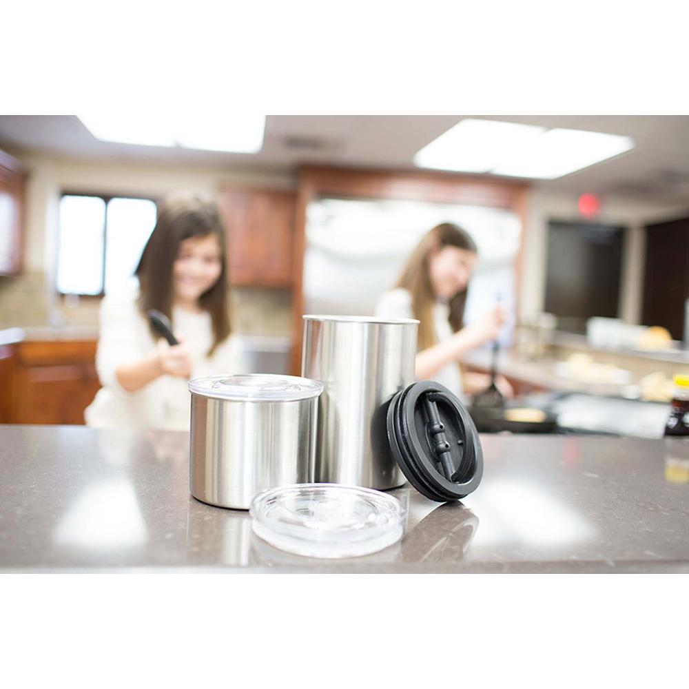 AIRSCAPE 64 oz. Brushed Stainless Steel Coffee and Food Storage Canister  sc 1 st  The Home Depot & AIRSCAPE 64 oz. Brushed Stainless Steel Coffee and Food Storage ...