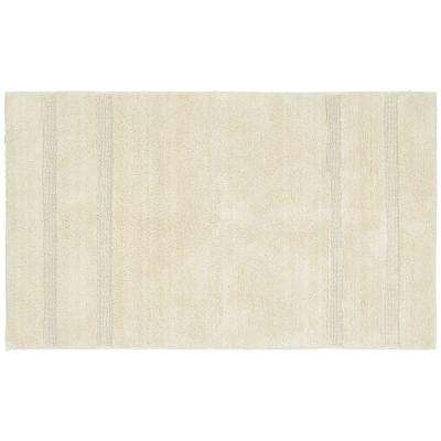 Majesty Cotton Natural 30 in. x 50 in. Washable Bathroom Accent Rug