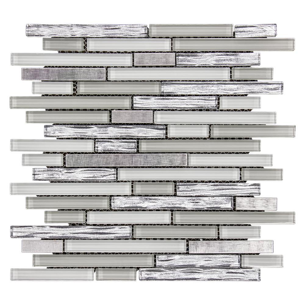 Fresh Taffy 12 in. x 12.25 in. x 8 mm Glass/Metal Mosaic Wall Tile