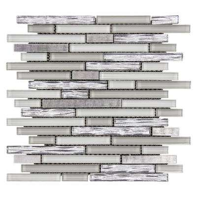 Fresh Taffy 12 in. x 12.25 in. x 8 mm Glass/Metal Mosaic Wall Tile