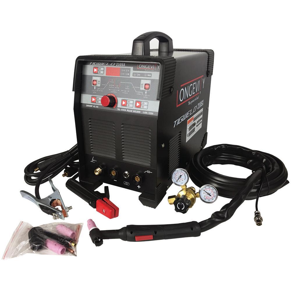 Longevity TIGWELD 210SX 200 Amp. 110-Volt/220-Volt AC/DC TIG/STICK Welder