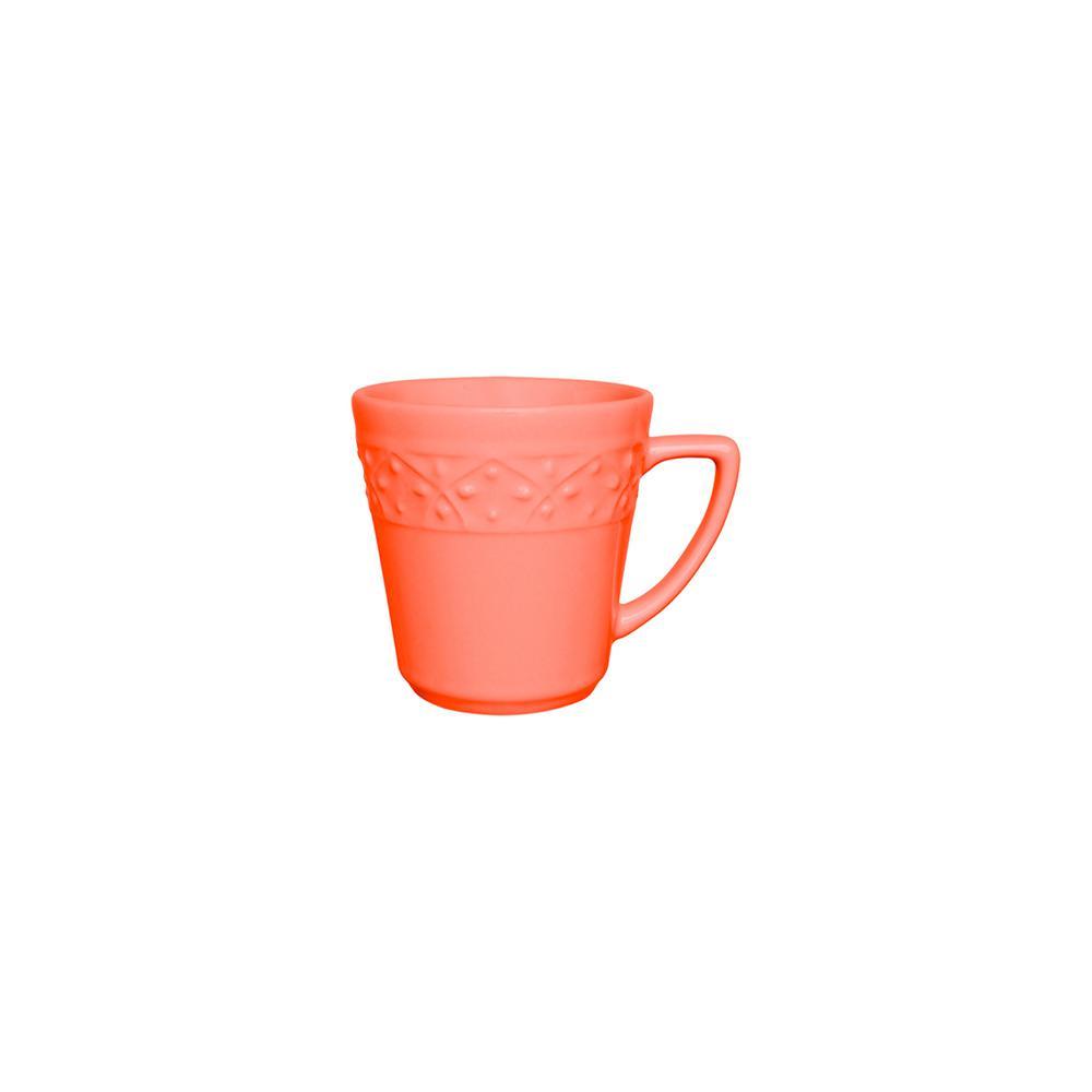 Manhattan Comfort Mendi 12.17 oz. Coral Earthenware Mugs (Set of 12), Pink was $129.99 now $68.66 (47.0% off)
