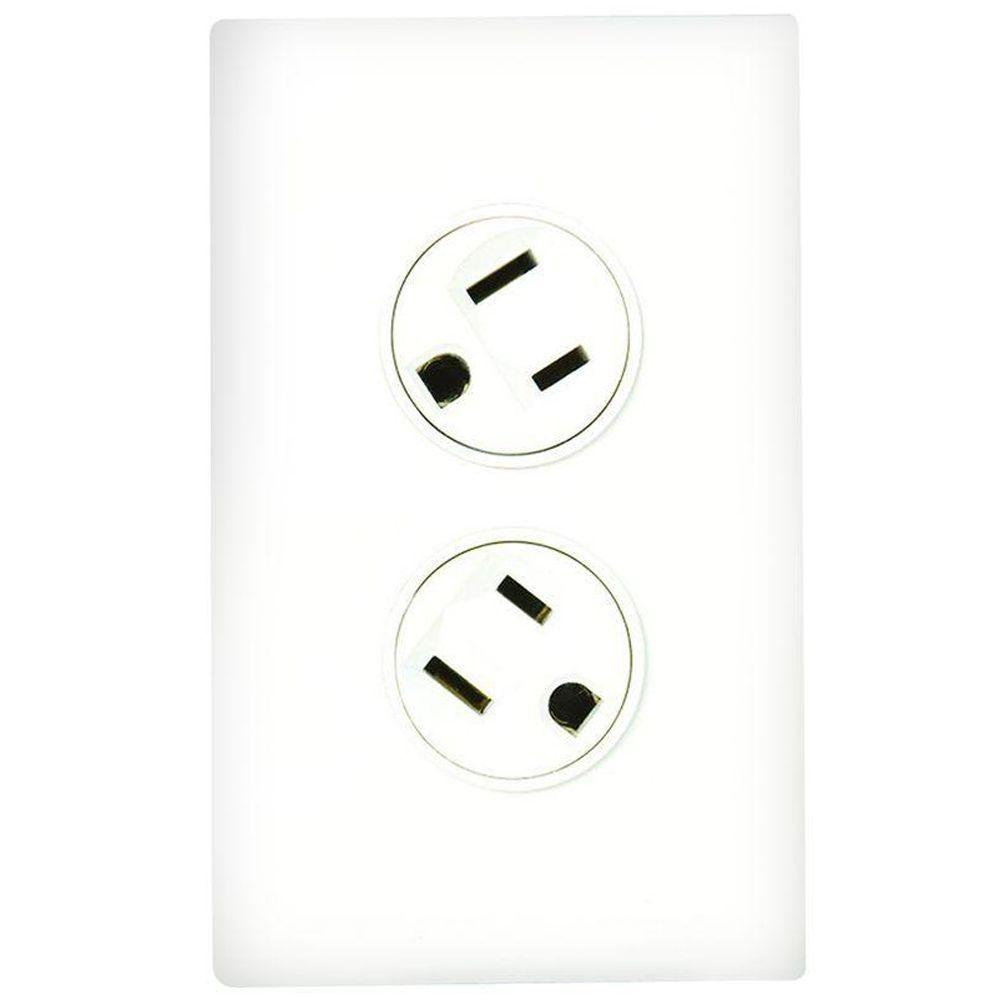 360 Electrical Rotating Duplex Outlet - White