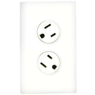 Rotating Duplex Outlet - White
