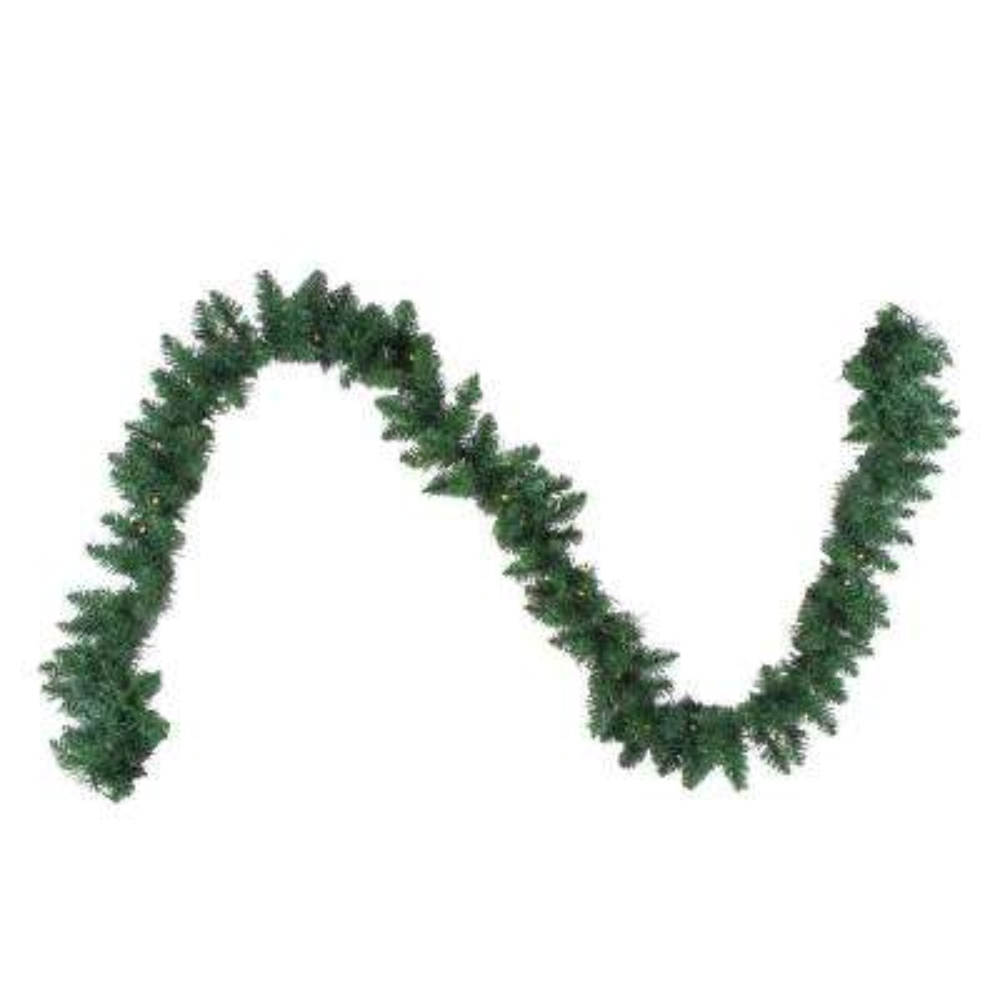 108 in. B/O Pre-Lit Artificial Newberry Pine Christmas Garland