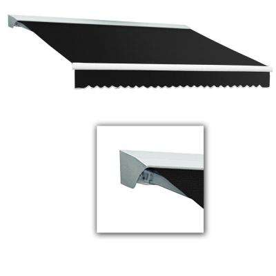 12 ft. Destin-LX with Hood Right Motor with Remote Retractable Awning (120 in. Projection) in Black