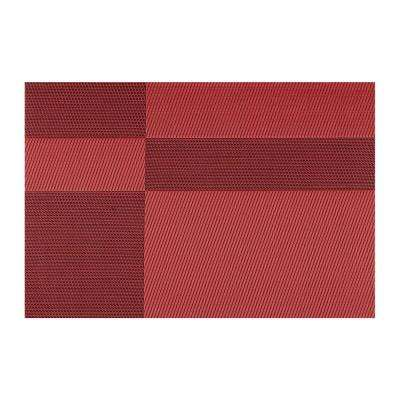 EveryTable Red and Black Twill Placemat (Set of 12)