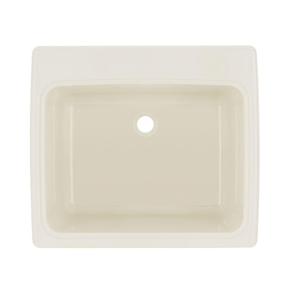 Drop In Laundry Room Sink.Swan 25 In X 22 In X 13 6 In Solid Surface Undermount Utility Sink In Bisque