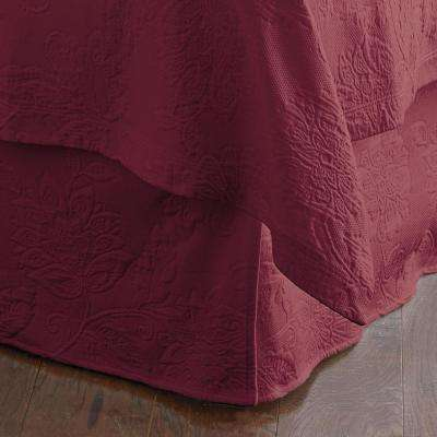Putnam Matelasse Claret Queen Bed Skirt