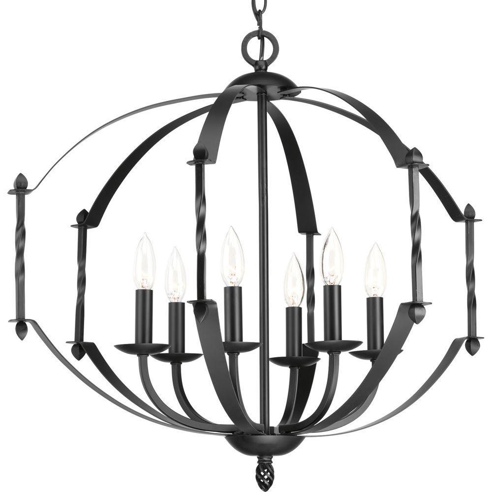 Greyson Collection 6-Light Black Chandelier