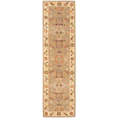 Heritage Light Green/Beige 2 ft. x 12 ft. Runner Rug