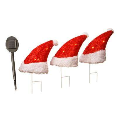 18 in. Christmas Lighting Solar Light with LED's (Set of 3)