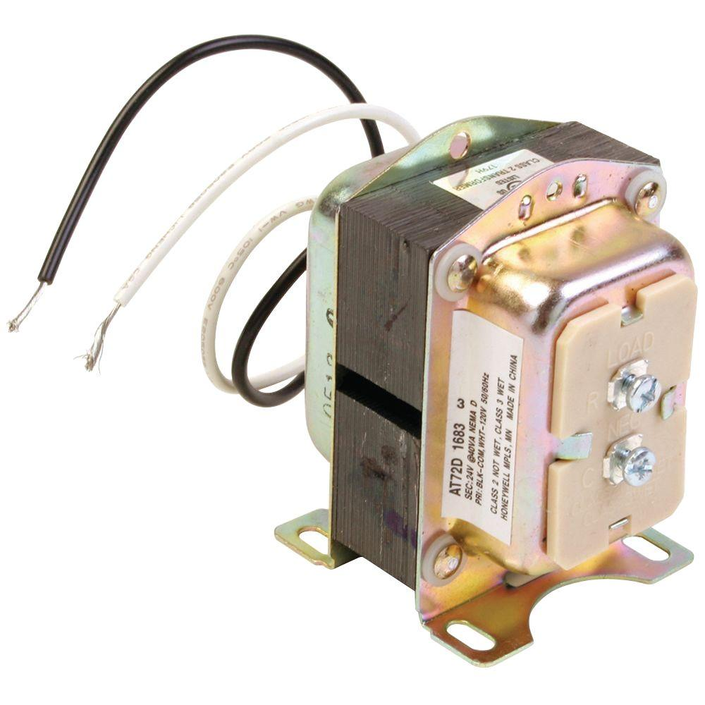 Honeywell 24 Volt Transformer At72d The Home Depot 24v Speed Controller Wiring Diagram
