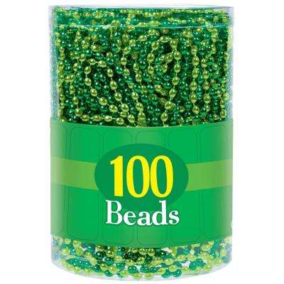 Green and Gold St. Patrick's Day Bead Necklaces (100-Count)