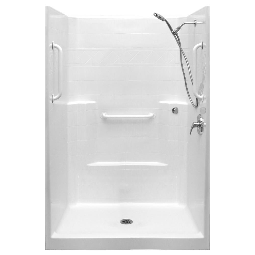 Ella Ultimate-WSA 37 in. x 48 in. x 80 in. 1-Piece Low Threshold ...