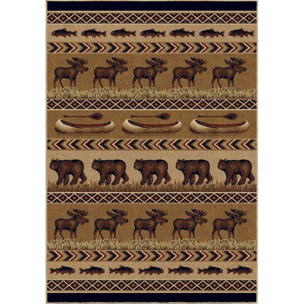 Oregon Trail Brown 5 ft. 3 in. x 7 ft. 6
