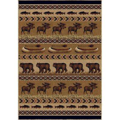 Oregon Trail Brown 7 ft. 10 in. x 10 ft. 10 in. Indoor Area Rug
