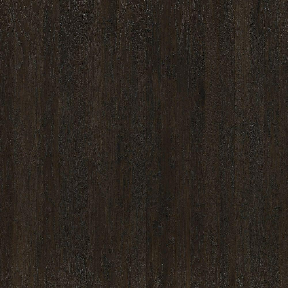 Shaw Take Home Sample - Hand Scraped Western Hickory Leather Engineered Hardwood Flooring - 5 in. x 7 in.