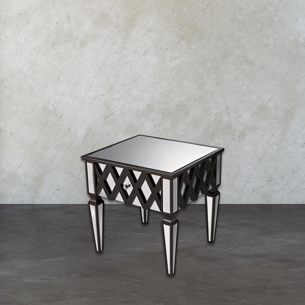 An Lighting London Espresso Mirrored Side Table